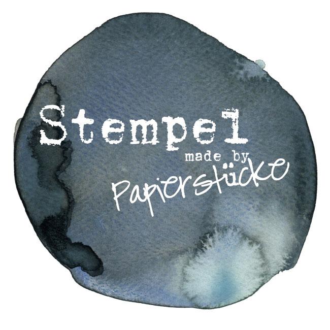 Papierstücke Stempel